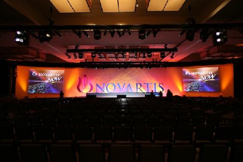 Novartis Corporate Meetings.  Industrial Show Production
